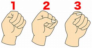 握りこぶしであなたの性格がわかる!?3つのうちあなたはどのタイプ?