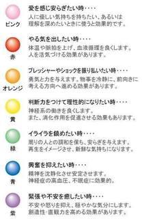 【色と心の関係】